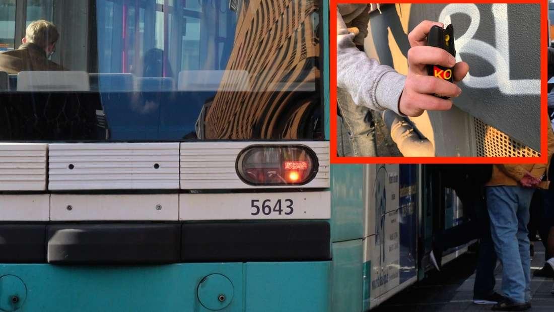 In einer Straßenbahn der Linie 1 versprühen Unbekannte Reizgas– und verletzten mehrere Personen. (Symbolfoto)