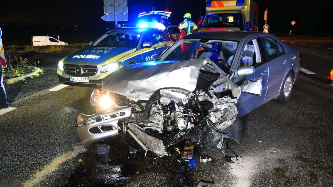 Die Unfallstelle in Kirchheim am Mittwochmorgen