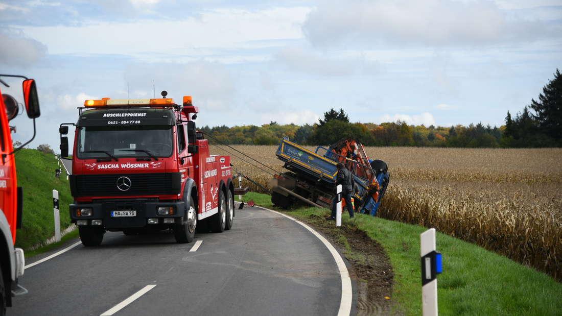 Vollsperrung auf L600 nach Lkw-Unfall