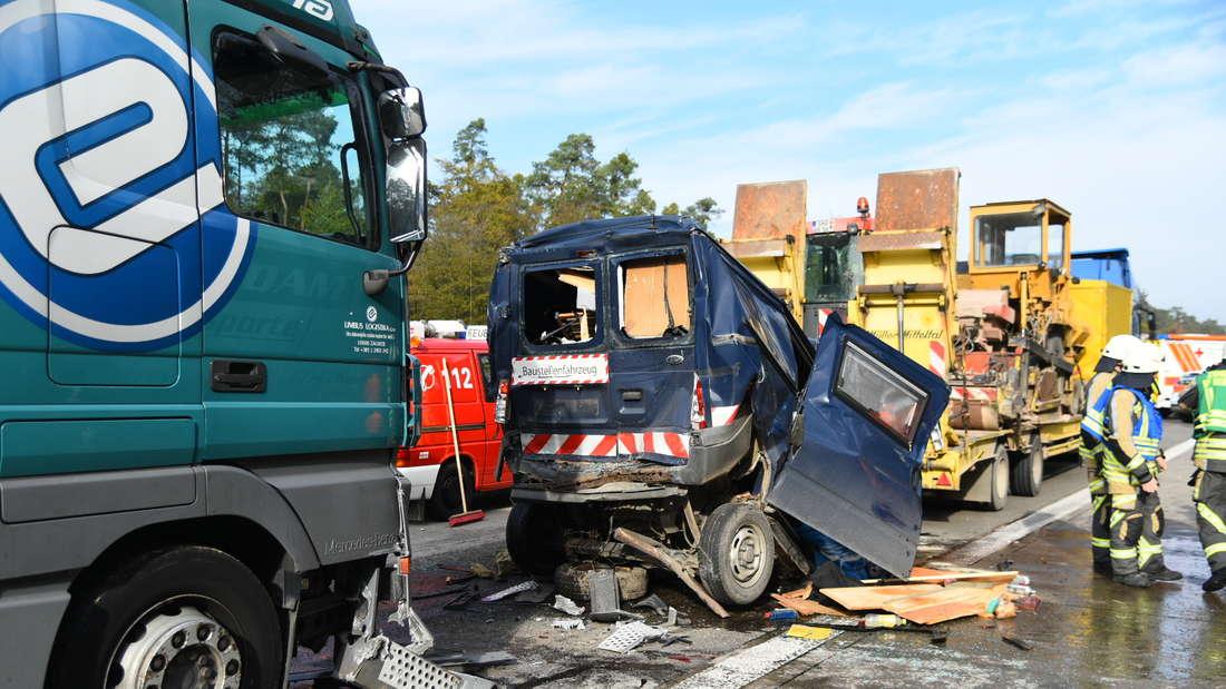 Schwerer Unfall auf A5 an Stauende