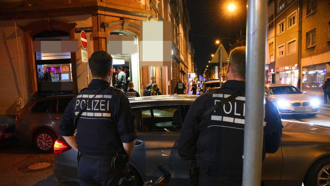 Die Razzia im Bereich der Mittelstraße am Donnerstagabend