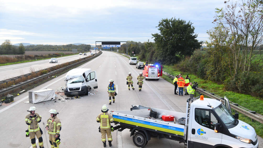 A6: Unfall zwischen Dreieck Hockenheim und Autobahnkreuz Walldorf.