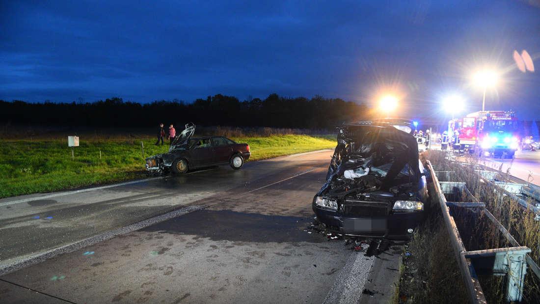 Am frühen Sonntagabend kommt es auf der A6 zwischen Wiesloch und Walldorf zu einem Unfall.