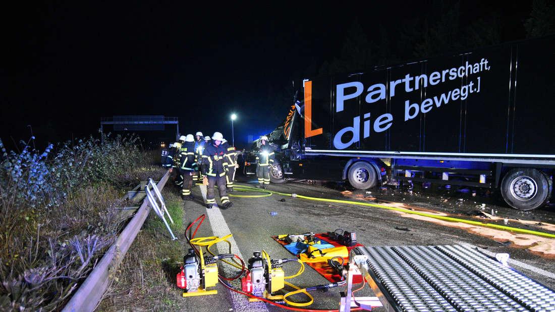 Schwerer Lkw Unfall auf der A6