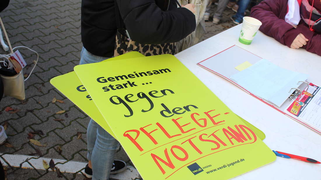 ver.di Streik im Heidelberger Uniklinikum