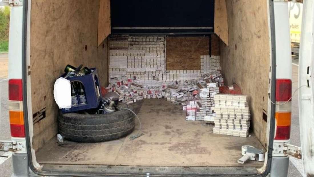 Zigaretten-Schmuggel bei Kontrolle auf A6 aufgedeckt