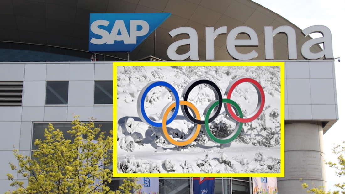 Die SAP Arena in Mannheim könnte als Austragungsort für Eishockey fungieren.