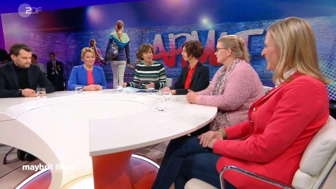 """Die Runde bei Maybrit Illner sprach über das Thema""""Armutsrisiko Familie – heute Eltern, morgen arm?"""""""