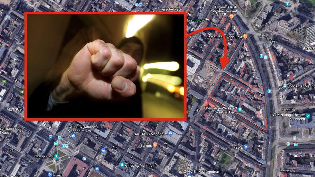 Brutale Attacke in dem Quadraten T6 (Symbolfoto)