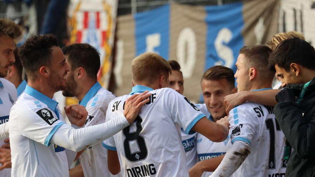 Der SV Waldhof gewinnt in Münster (Archivfoto).