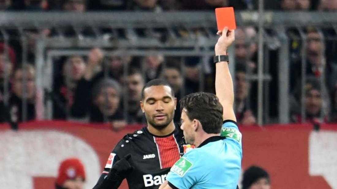 Jonathan Tah hatte in München die Rote Karte gesehen. Foto: Tobias Hase/dpa
