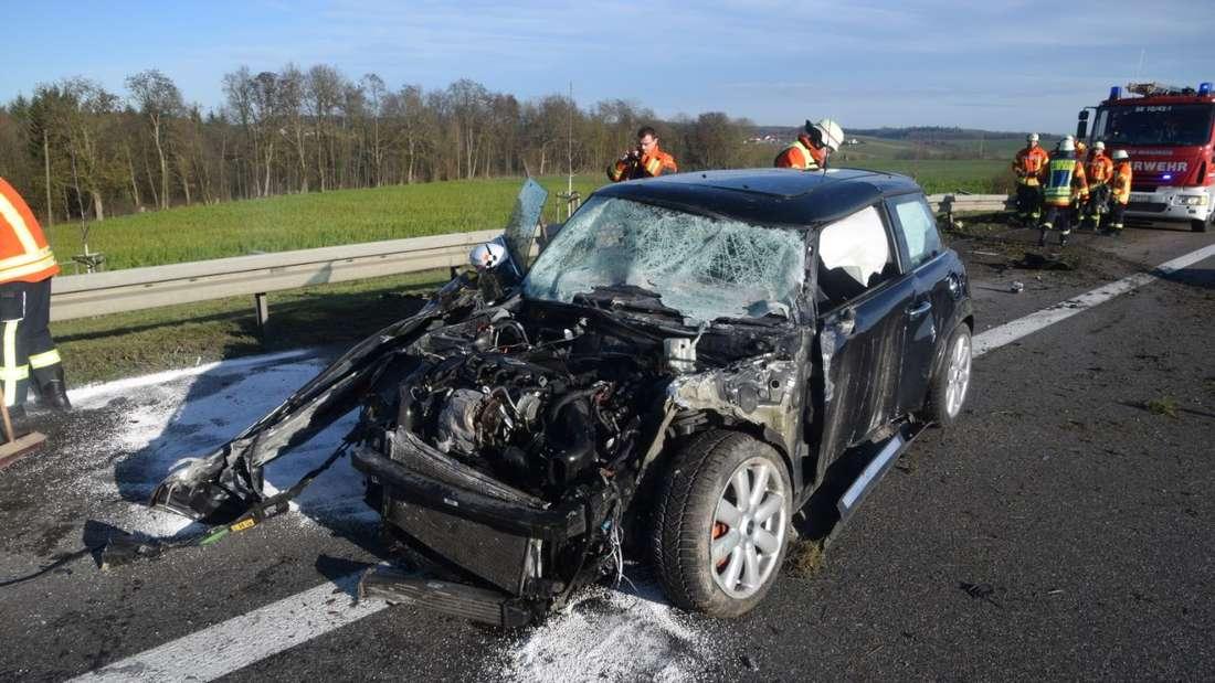Schwerer Unfall auf A6 bei Sinsheim.
