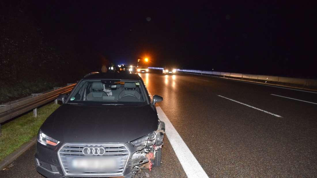 Erster Weihnachtsfeiertag endet auf der A6 für eine Wildschwein-Familie in einer Tragödie – zehn Autos beschädigt.