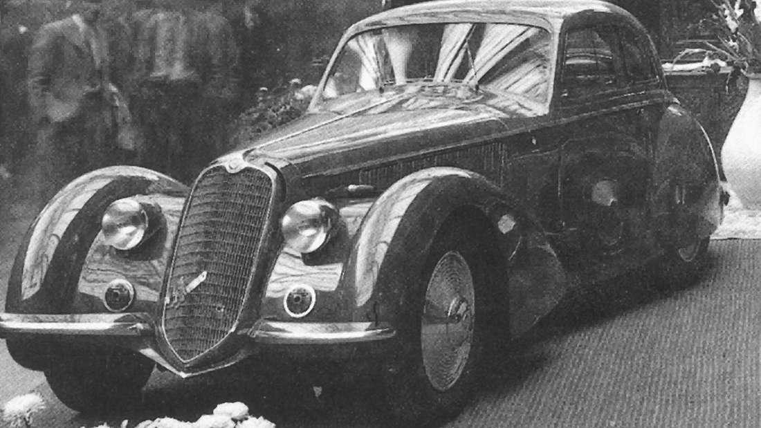 Auf Platz 2 landete ein Alfa 8C 2900B Touring Berlinetta - hier ein historisches Beispielbild.