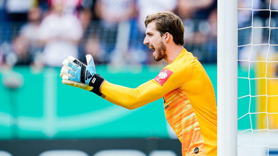 Kevin Trapp steht gegen Hoffenheim im Eintracht-Tor.