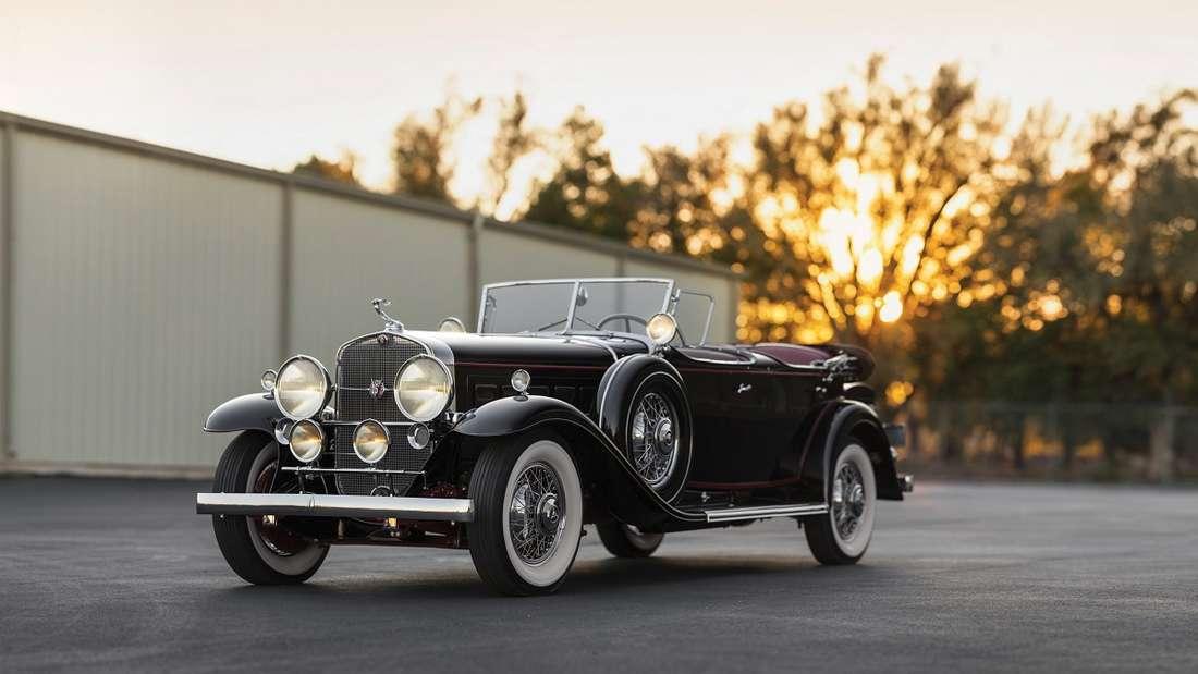 Ältestes und zugleich teuerstes Auktionsobjekt aus der Groendyke-V16-Sammlung ist ein Sport Phaeton aus dem Jahr 1930.