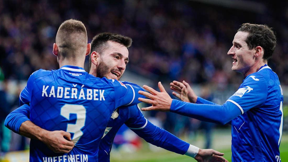 Die TSG Hoffenheim trifft am Samstag auf Eintracht Frankfurt.