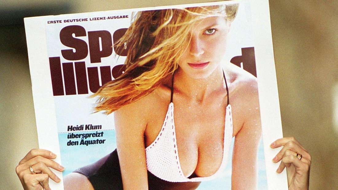 Heidi Klums großer Durchbruch gelingt ihr mit dem Titelbild der Sports Illustrated.