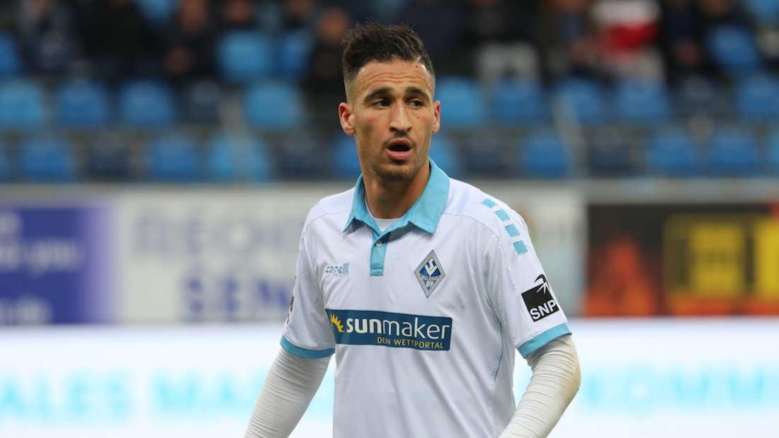 Mounir Bouziane bringt den SV Waldhof in Meppen in Führung. (Archivfoto)