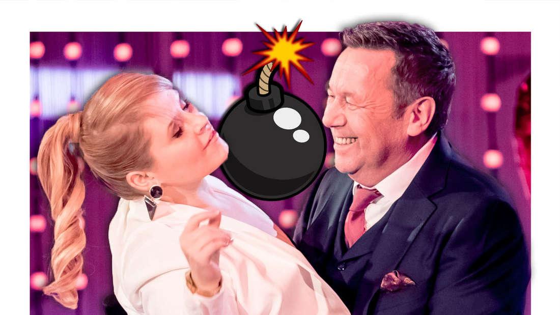 """Schlagersängerin Maite Kelly (hier mit Roland Kaiser) gewann """"Let's Dance""""."""