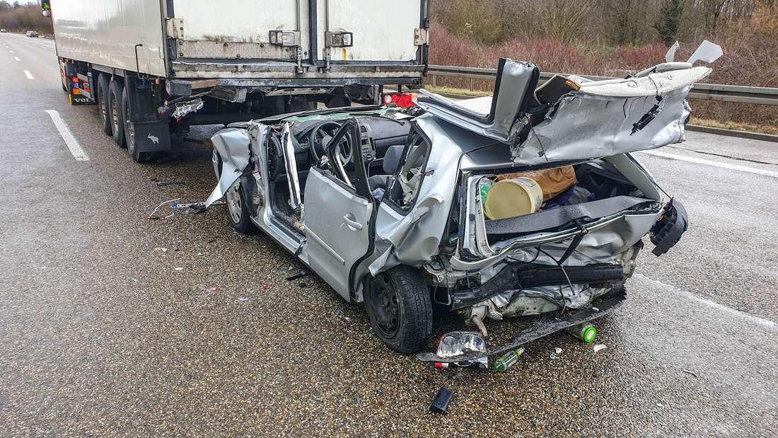 Die Unfallstelle auf der A8 bei Pforzheim