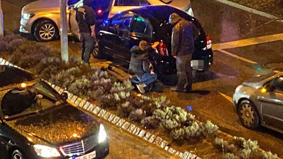 Großeinsatz in Plochingen: Polizisten nehmen einen Verdächtigen fest!