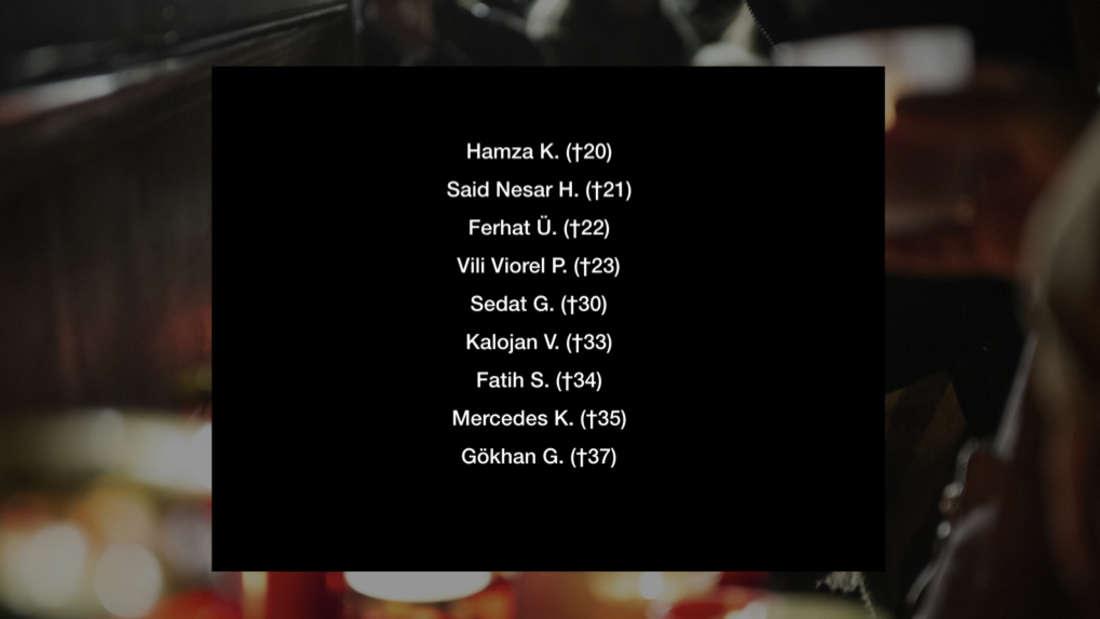 Die Opfer von Hanau-Terrorist Tobias R.