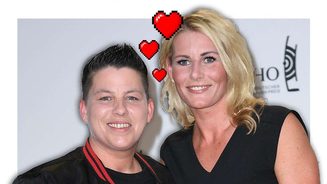 Schlagerstar Kerstin Ott (links) mit Ehefrau Karolina.