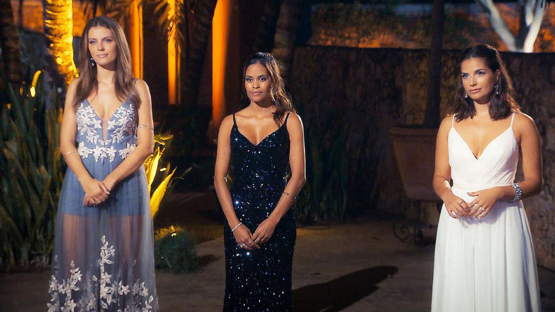 """Wioleta (li.), Desiree und Diana (re.) sind die drei letzten Kandidatinnen bei """"Der Bachelor"""""""