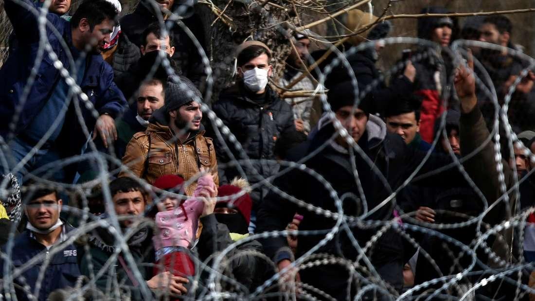 Wollen nach Europa: Migranten an der griechisch-türkischen Grenze