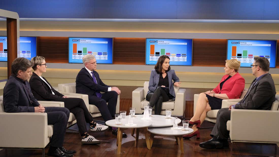"""Talkrunde bei""""Anne Will"""": Die Sendung findet vorerst ohne Publikum im Studio statt."""