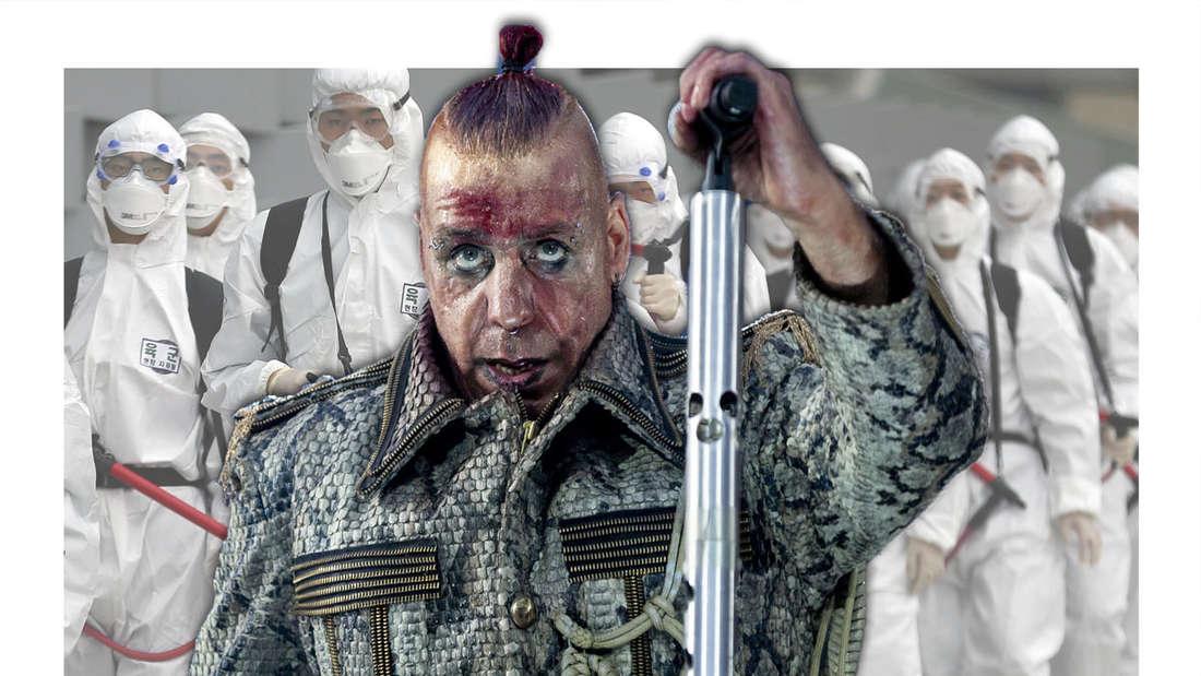 Till Lindemann trat in Zeiten des Coronavirus in Moskau auf.
