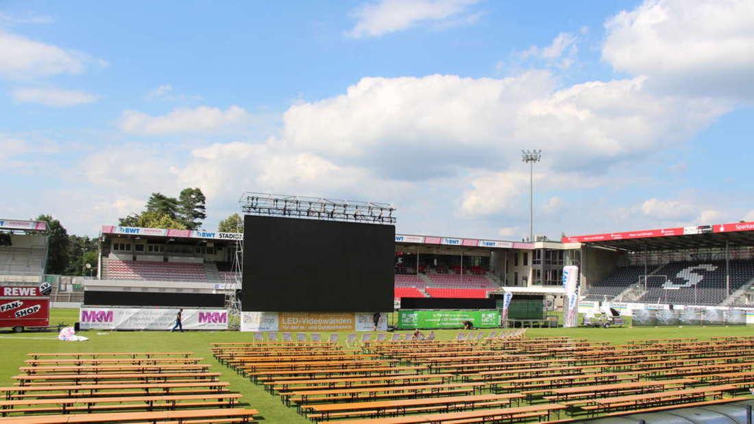 Die ,Fan-Arena Sandhausen' während der Fußball-WM 2018.
