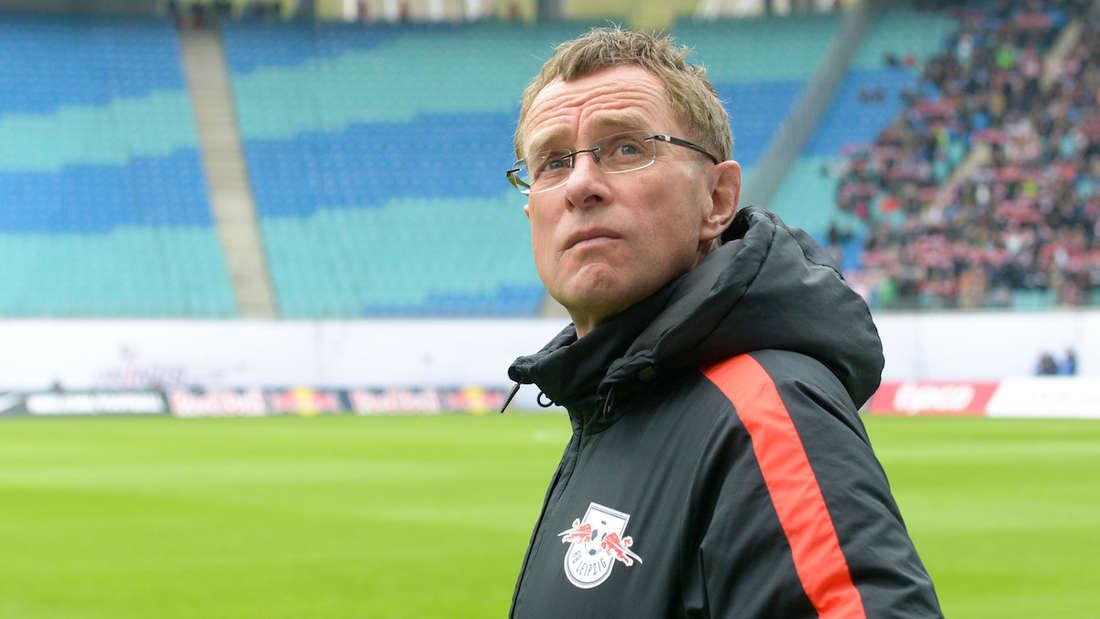 Ralf Rangnick als Trainer von RB Leipzig.