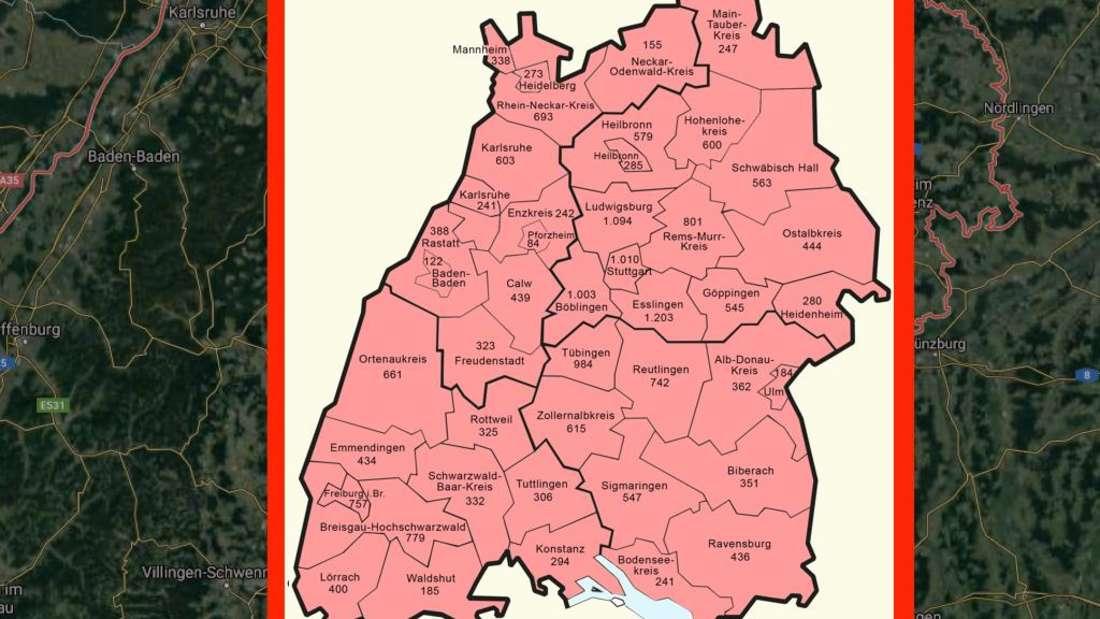 Die Ausbreitung des Coronavirus in Baden-Württemberg (Stand 8. April 2020)