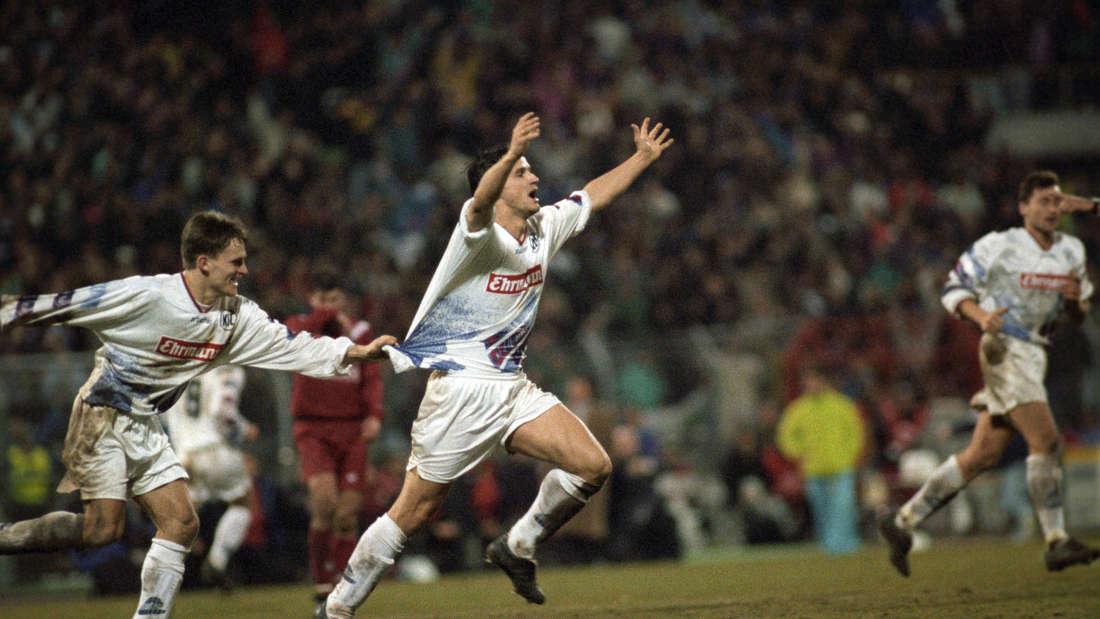 Historisch: Edgar Schmitt, genannt Euro-Eddy, trifft gegen den FC Valenica gleich vier Mal.