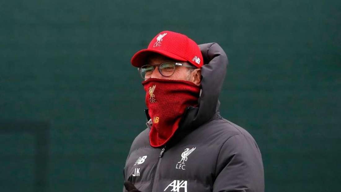 Auf dem Weg zur Meisterschaft mit dem FC Liverpool vom Virus ausgebremst: Trainer Jürgen Klopp. Foto: Martin Rickett/PA Wire/dpa