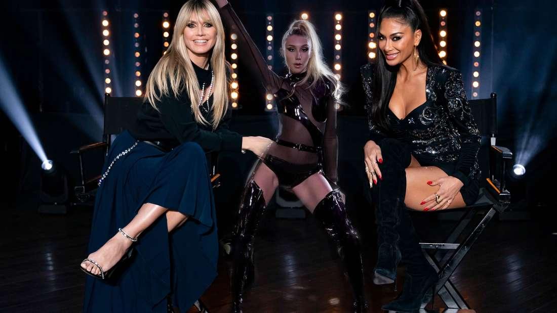 """Frauenpower, Action und Nervenkitzel - das erwartet die Kandidatinnen in der 13. GNTM-Folge. Gemeinsam mit Nicole Scherzinger heizt Heidi Klum ihren """"Meeedchen"""" ein."""