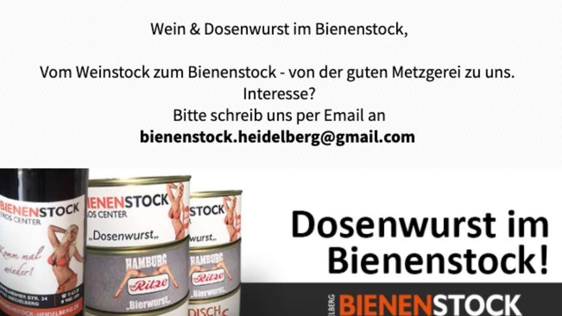 Das Heidelberger Bordell verkauft jetzt Wein und Dosenwurst.
