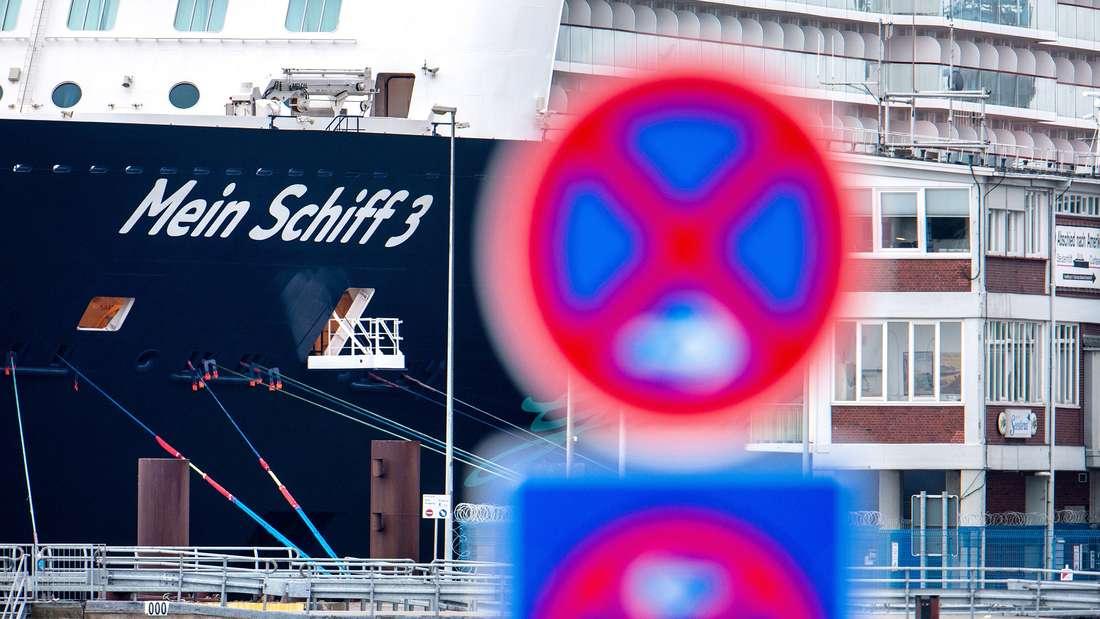 """Coronavirus auf Kreuzfahrtschiff """"Mein Schiff"""" in Cuxhaven."""