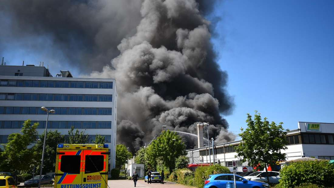 Großbrand in Ladenburg