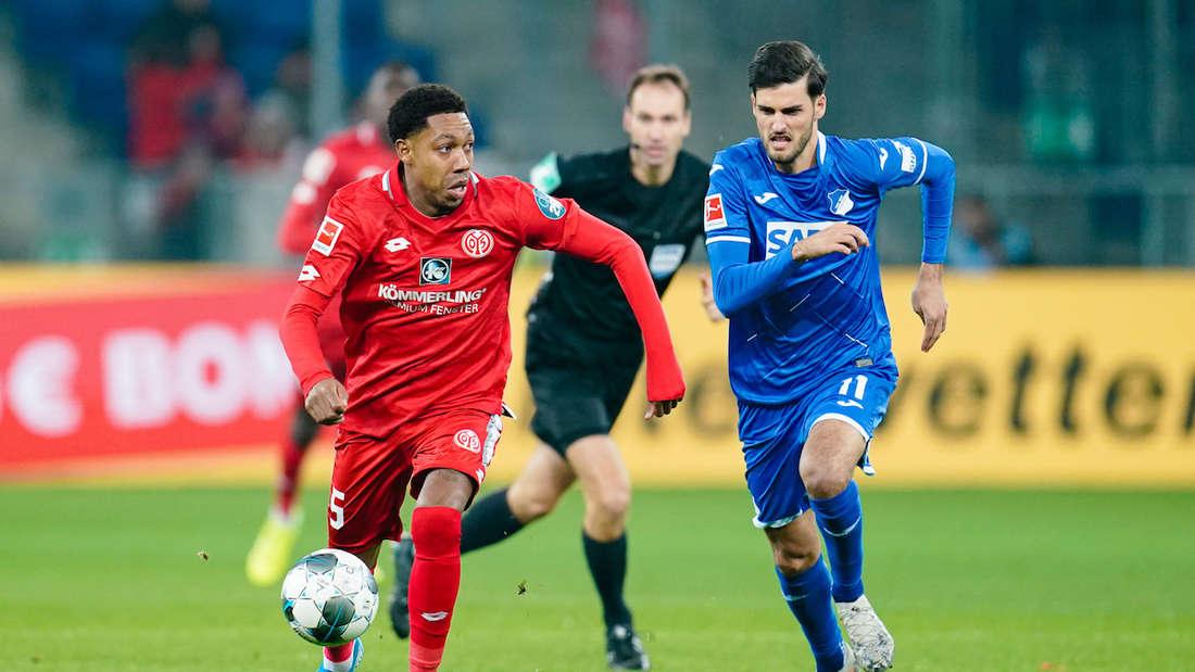 Florian Grillitsch (r.) ist gegen Mainz 05 noch fraglich.
