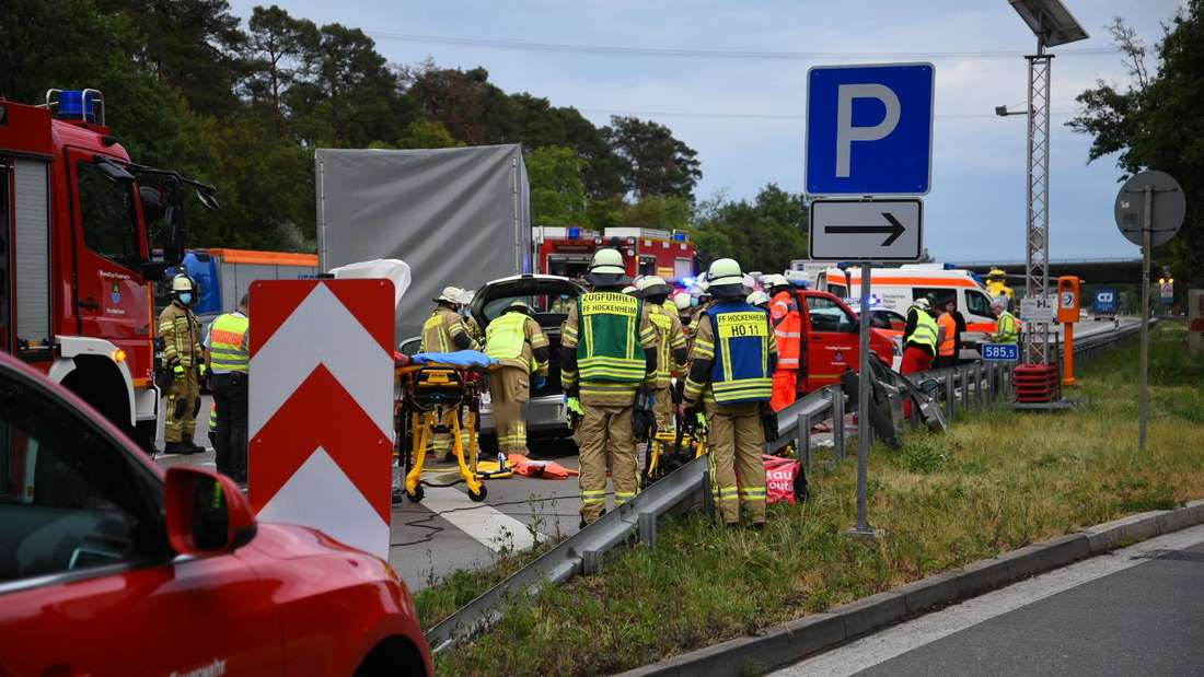 Schwerer Unfall auf der A6 bei Hockenheim