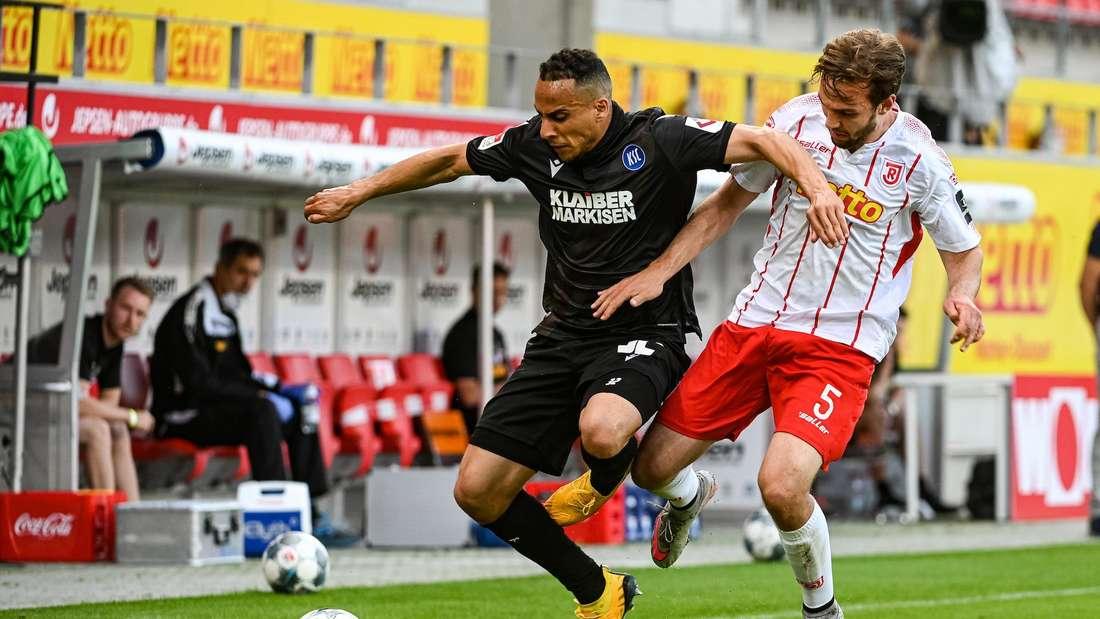 Änis Ben-Hatira ist mit dem Karlsruher SC am Mittwoch zu Gast beim SSV Jahn Regensburg.