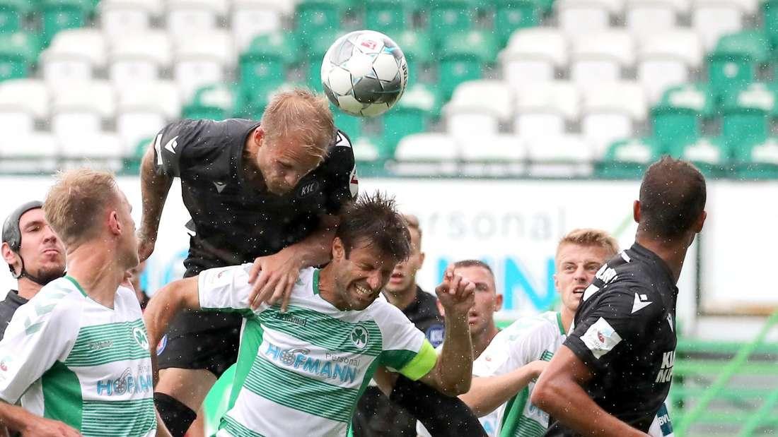 Greuther Fürth gegen Karlsruher SC: 1:1 zur Pause.