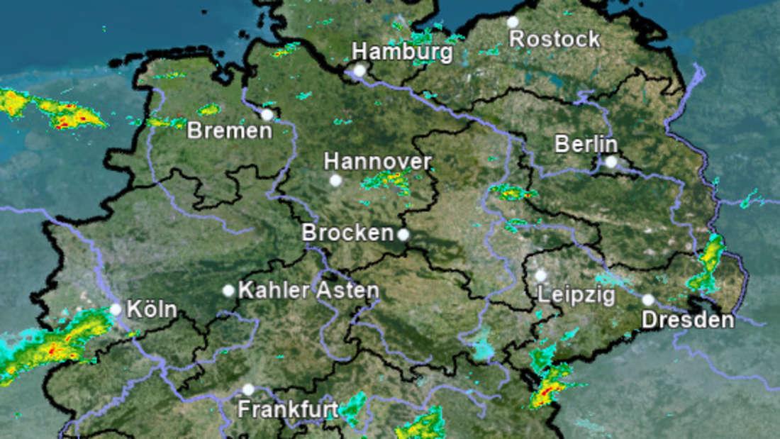 Unwetter-Radar des DWD.
