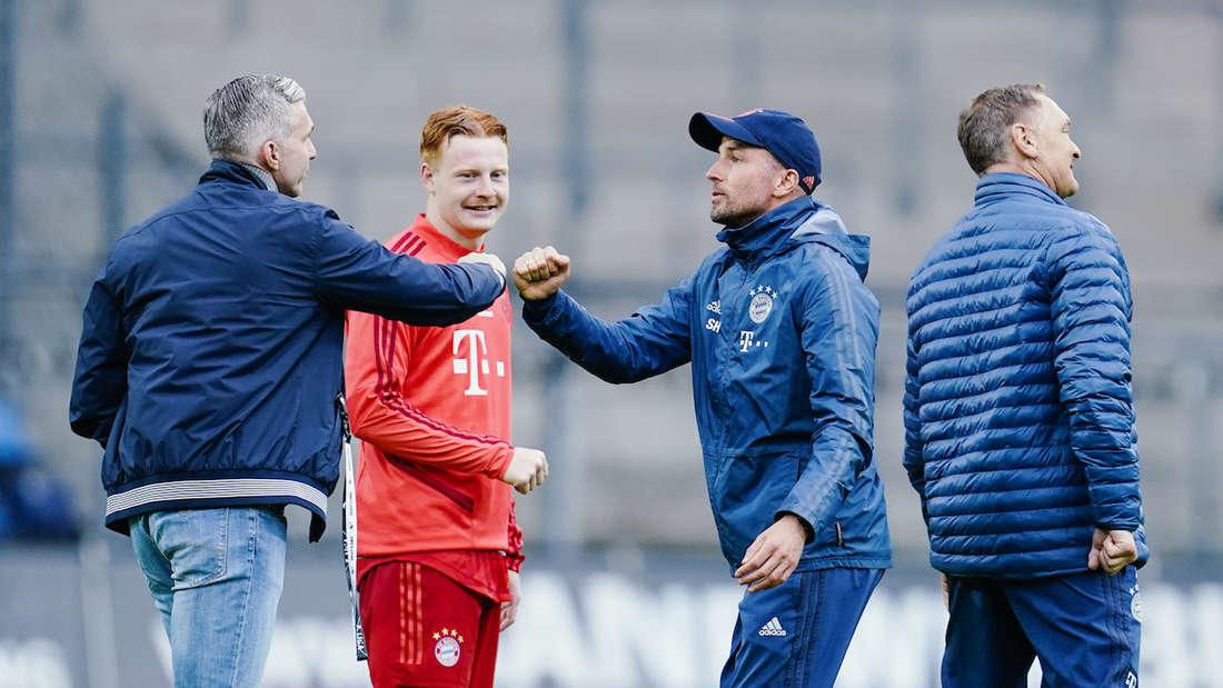 Sebastian Hoeneß (2.v.r.) wird neuer Trainer der TSG Hoffenheim.
