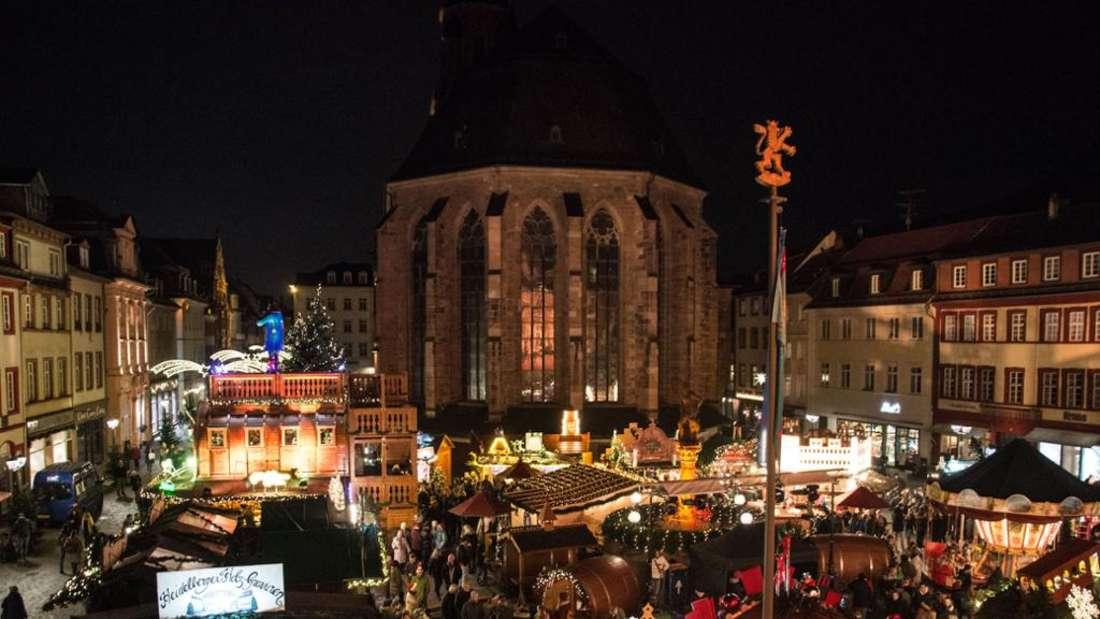 Der Weihnachtsmarkt in Heidelberg hat noch 2019 eine neue Attraktion gefeiert.