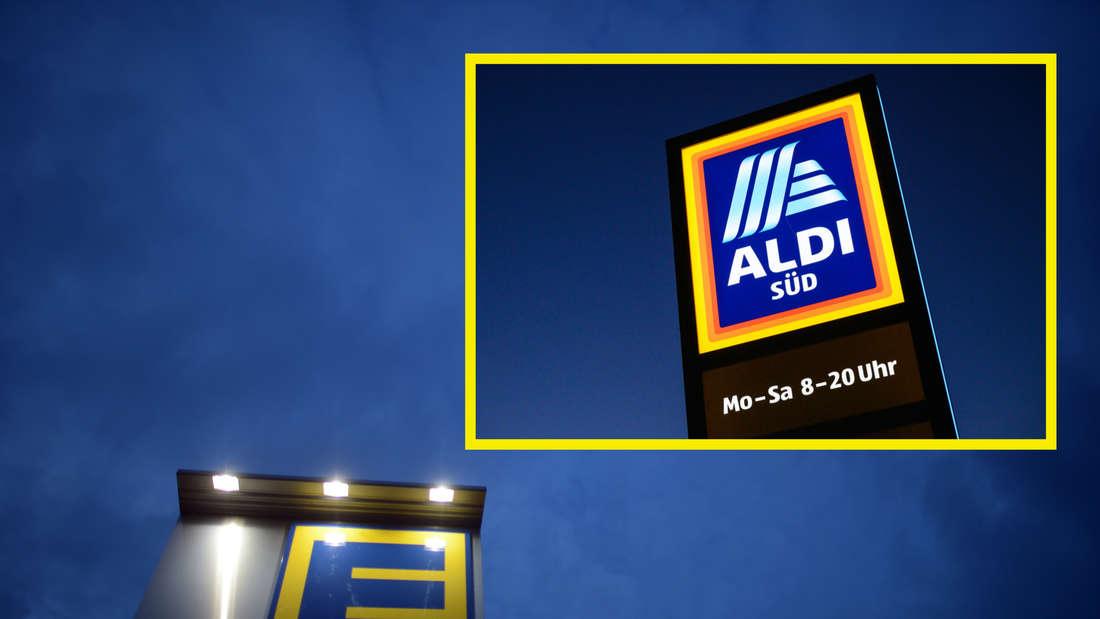 Die Logos von Edeka und Aldi