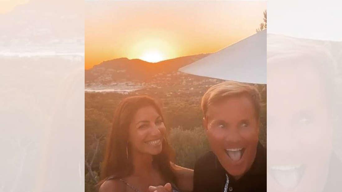 Dieter Bohlen und Carina haben im Mallorca-Urlaub offensichtlich viel Spaß - wie auch dieser Instagram-Screenshot zeigt.